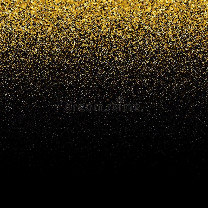 Aufflackernhintergrund Goldene Leuchte Enhaced Unschärfe der Leuchten Verzierung für Abdeckung, Glückwunsch, Broschüren, Einladun lizenzfreie abbildung