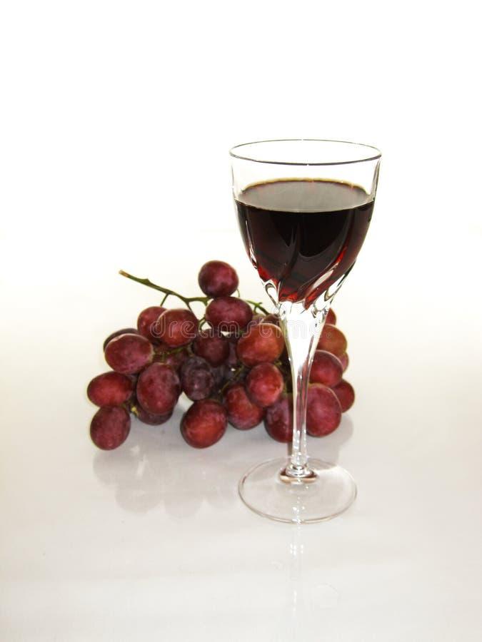 Auffrischung und klarer Rotwein stockfotos