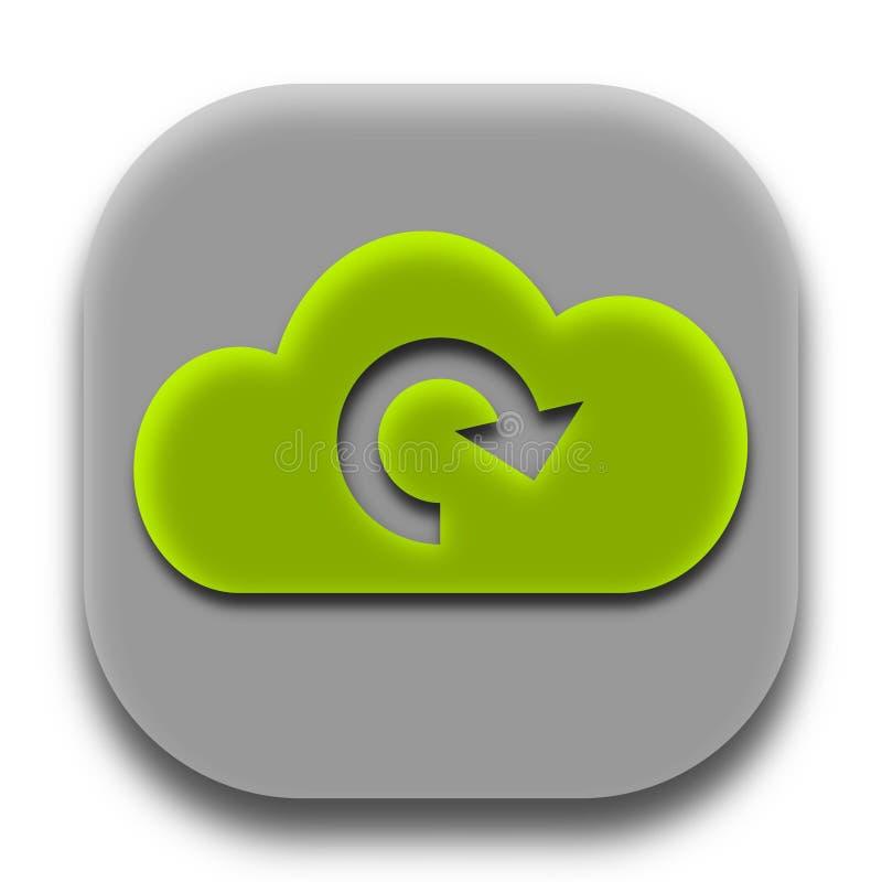 Auffrischungsbekehrt-Wolken-APP-Ikonen-Logo lizenzfreie stockfotografie