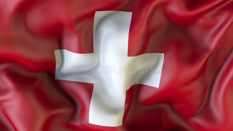 Aufgeben der Flagge des Schweizers, Schweizer vektor abbildung