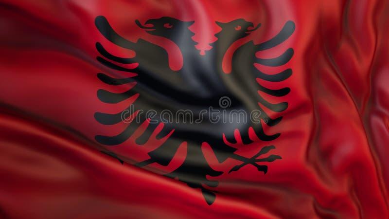 Aufgeben der Flagge von Albanien, Albanien vektor abbildung