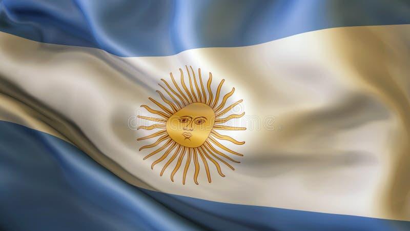 Aufgeben der Flagge von Argentinien, Argentinien vektor abbildung
