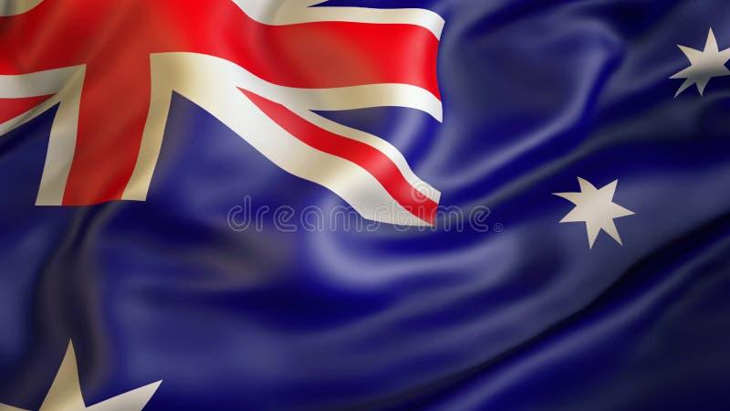Aufgeben der Flagge von Australien, Australien stock abbildung