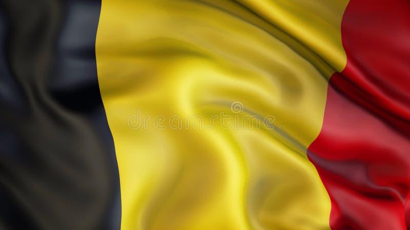 Aufgeben der Flagge von Belgien, Belgien stock abbildung