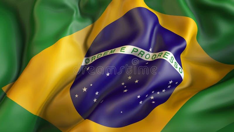 Aufgeben der Flagge von Brasilien, Brasilien lizenzfreie abbildung