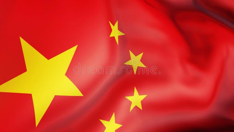 Aufgeben der Flagge von China China vektor abbildung