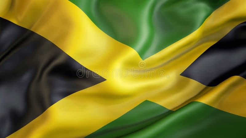 Aufgeben der Flagge von Jamaika, Patriot von Jamaika vektor abbildung