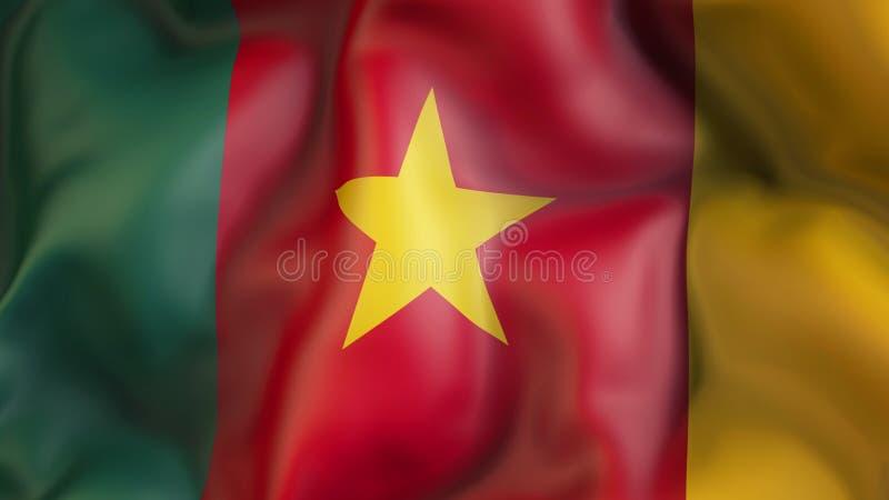 Aufgeben der Flagge von Kamerun, Kamerun lizenzfreie abbildung