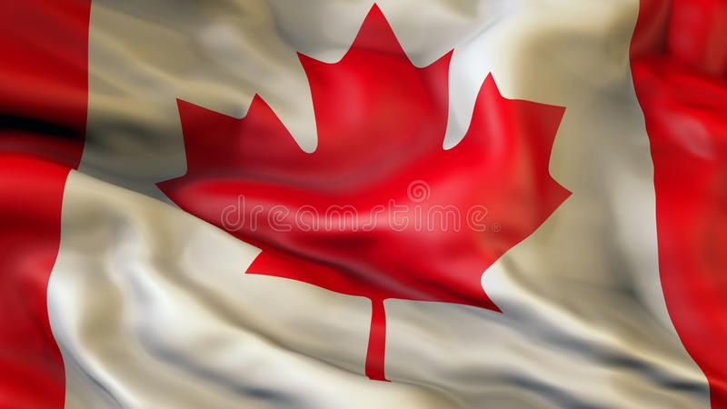 Aufgeben der Flagge von Kanada, Kanada lizenzfreie abbildung