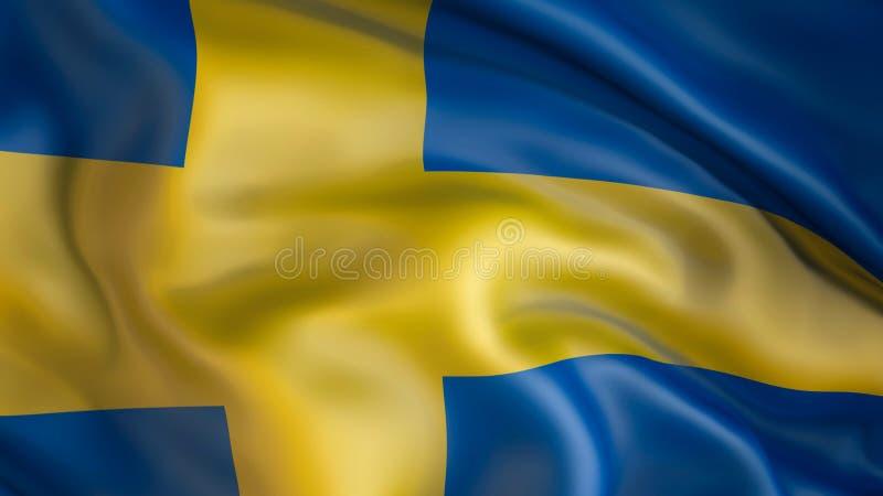Aufgeben der Flagge von Schweden, Schweden lizenzfreie abbildung