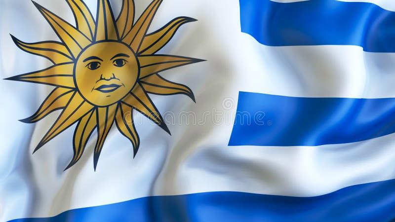 Aufgeben der Flagge von Uruguay, Diplomatie lizenzfreie abbildung