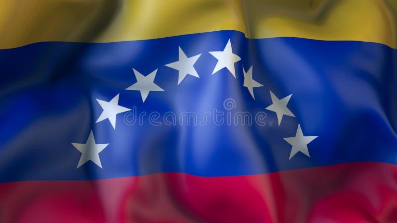 Aufgeben der Flagge von Venezuela, Diplomatie vektor abbildung