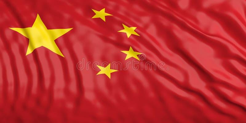 Aufgeben von China-Flagge Abbildung 3D stock abbildung