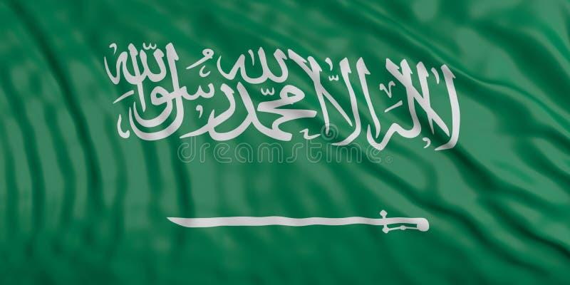 Aufgeben von KSA-Flagge Abbildung 3D vektor abbildung