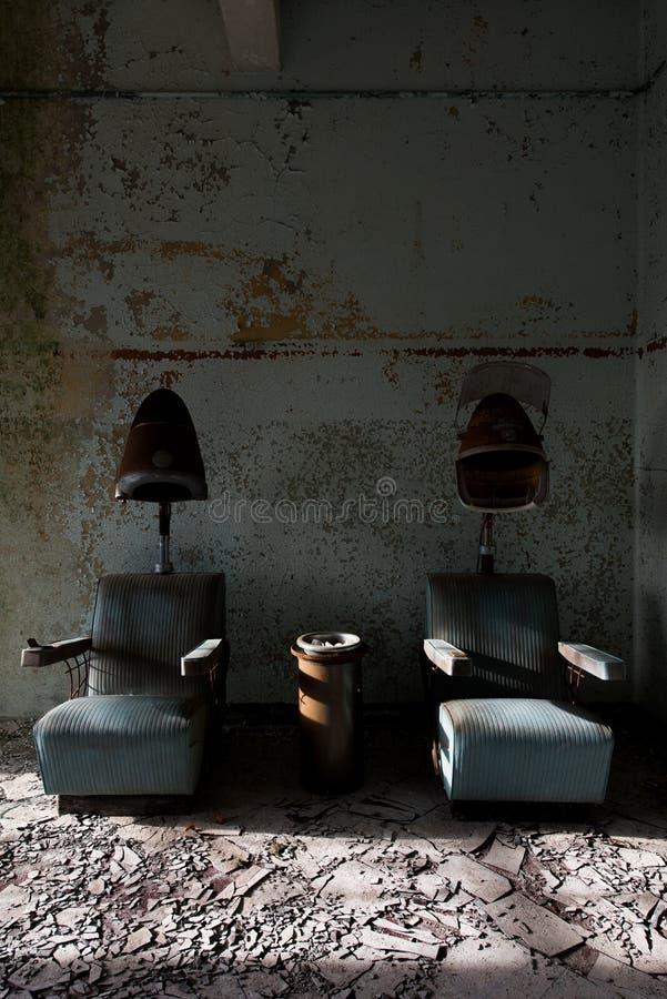 Aufgegebene Haartrockner - verlassenes Westboro-staatliches Krankenhaus - Massachusetts stockfotos