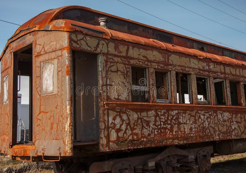 Aufgegebener Eisenbahnwagen lizenzfreie stockbilder