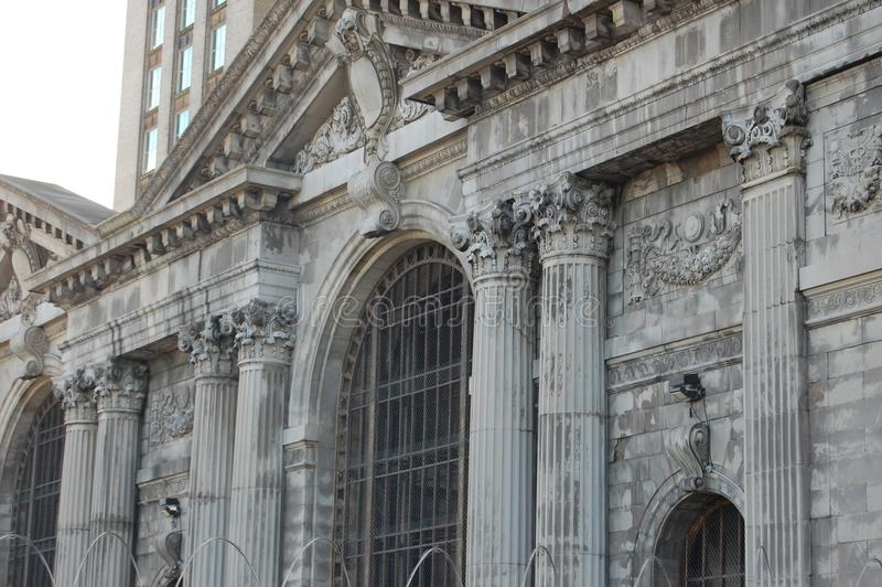 Aufgegebener Michican-Hauptbahnhof Detroit Michigan USA stockfoto
