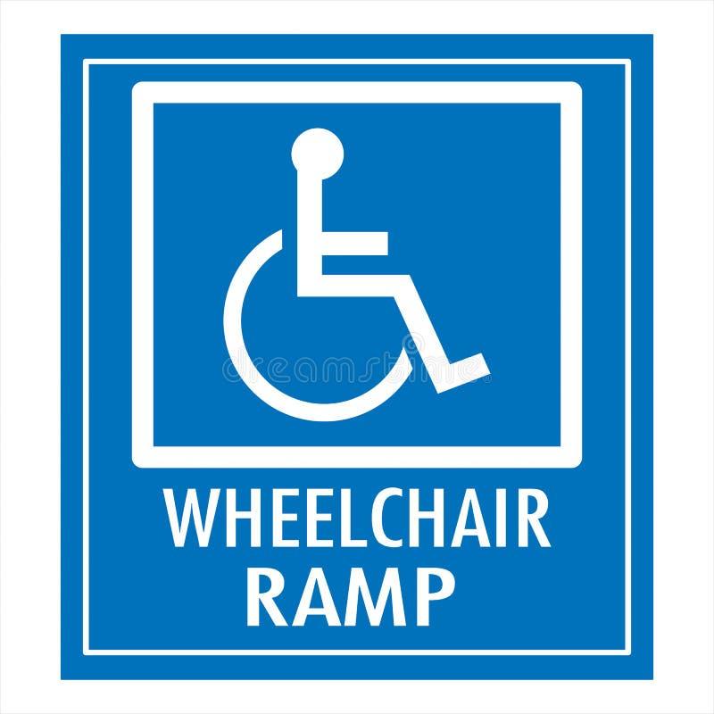 Aufgehoben nur für Behinderte stock abbildung
