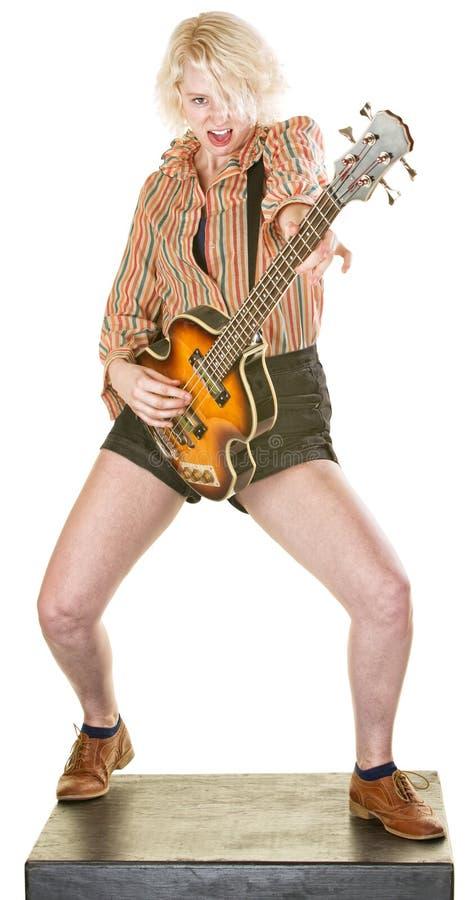 Aufgeregter Gitarrist stockbilder