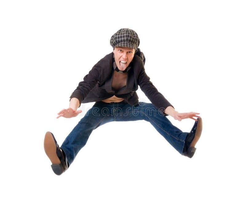 Aufgeregter junger Mann stockfoto