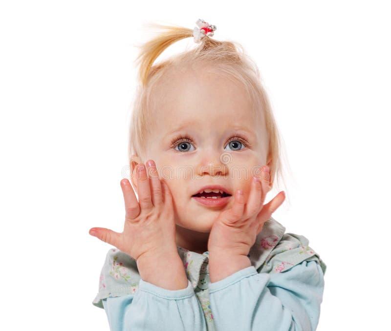 Aufgeregter Mädchen Headshot stockbild