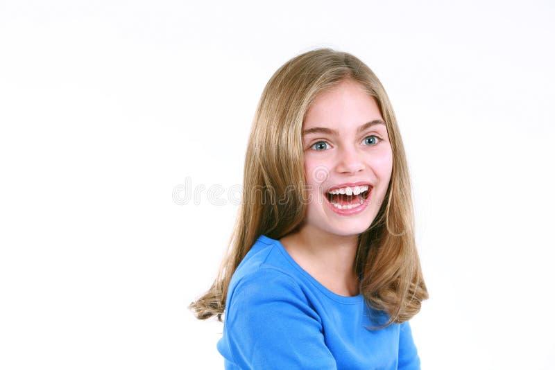 Aufgeregtes kleines Mädchen stockfotos