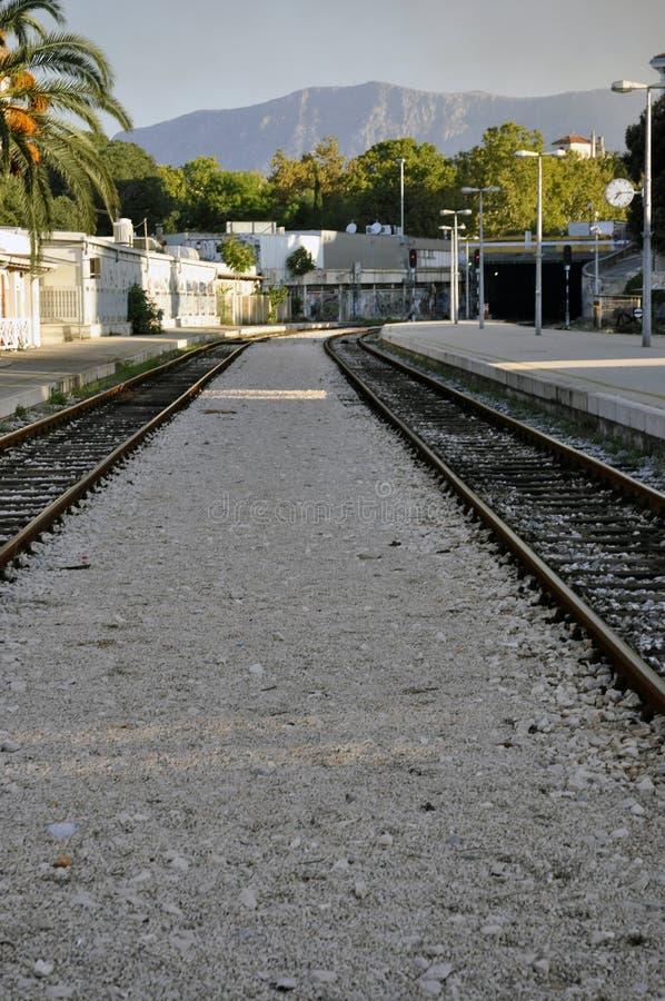 Aufgeteilte Bahnstation in Kroatien lizenzfreies stockfoto
