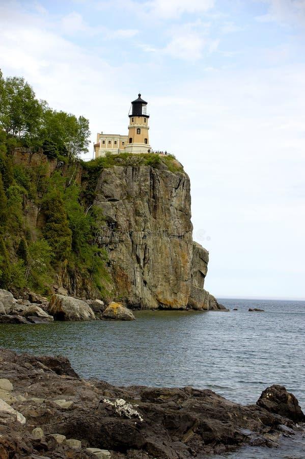 Aufgeteilter Felsen-Leuchtturm Lizenzfreies Stockbild