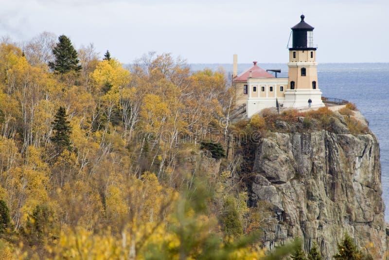 Aufgeteilter Felsen-Leuchtturm stockbilder