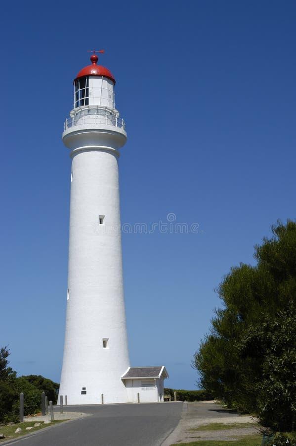 Aufgeteilter Punkt-Leuchtturm, Australien-große Ozean-Straße stockfotografie