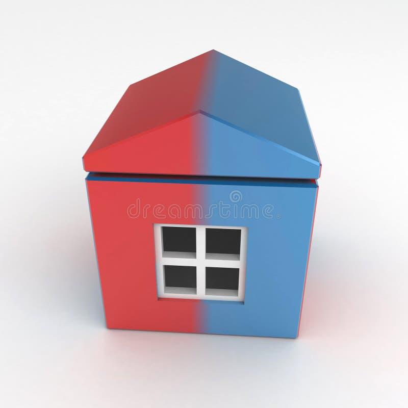 Aufgeteiltes Haus lizenzfreie abbildung