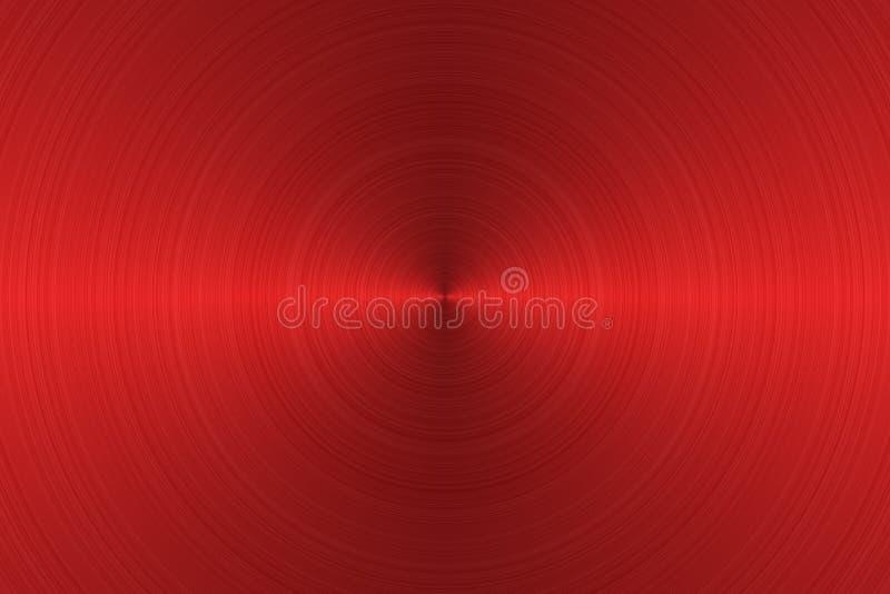Aufgetragene Metalloberfläche Beschaffenheit des Metalls Abstrakter roter Hintergrund stockbild