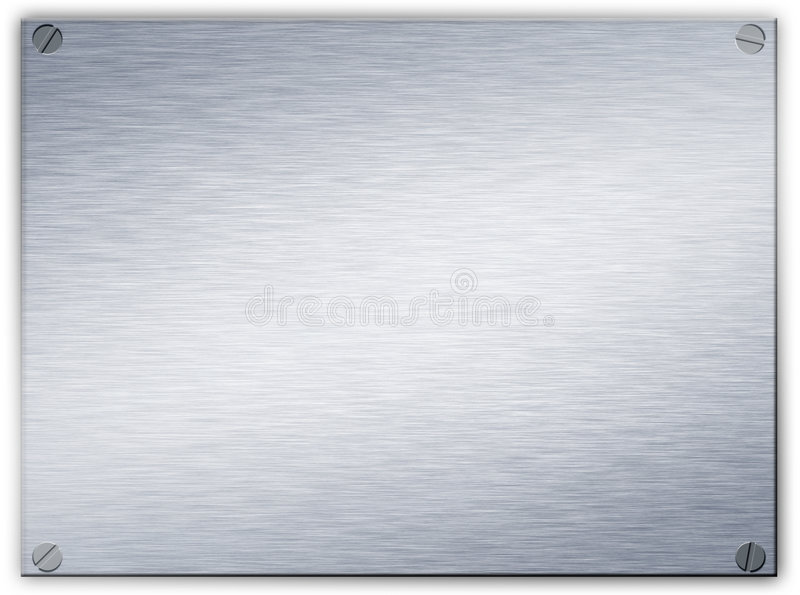 Aufgetragene Stahlmetallplakette vektor abbildung