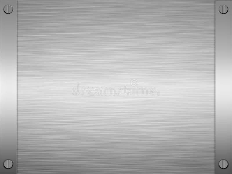 Aufgetragene Stahlmetallplakette stock abbildung