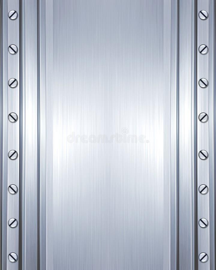 Aufgetragene Stahlplatte mit Schrauben lizenzfreies stockfoto