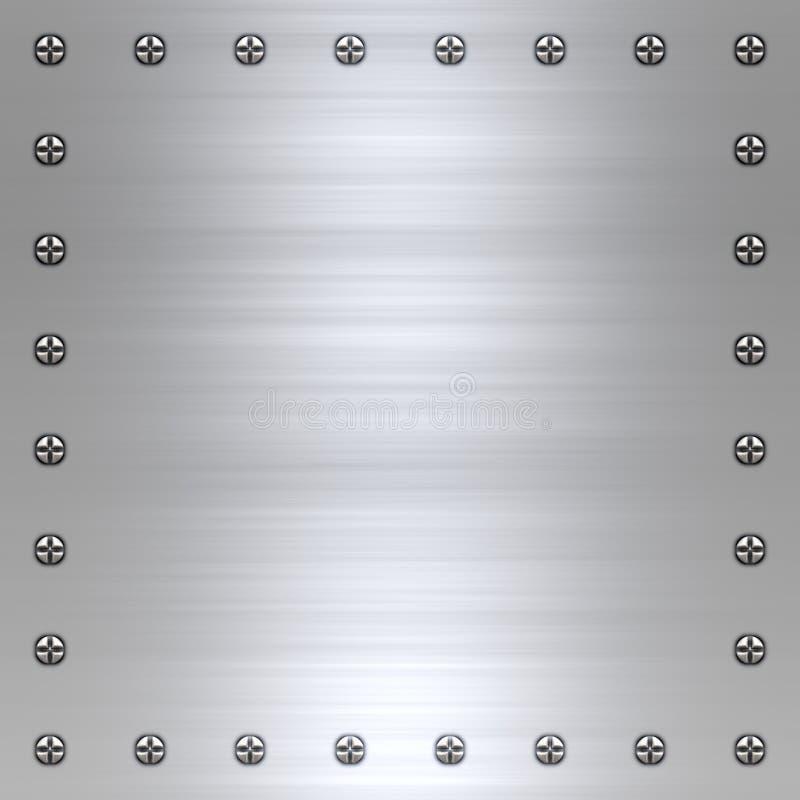 Aufgetragener Metallhintergrund lizenzfreie abbildung