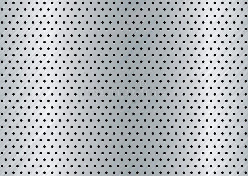 Aufgetragener Metalllochhintergrund stock abbildung