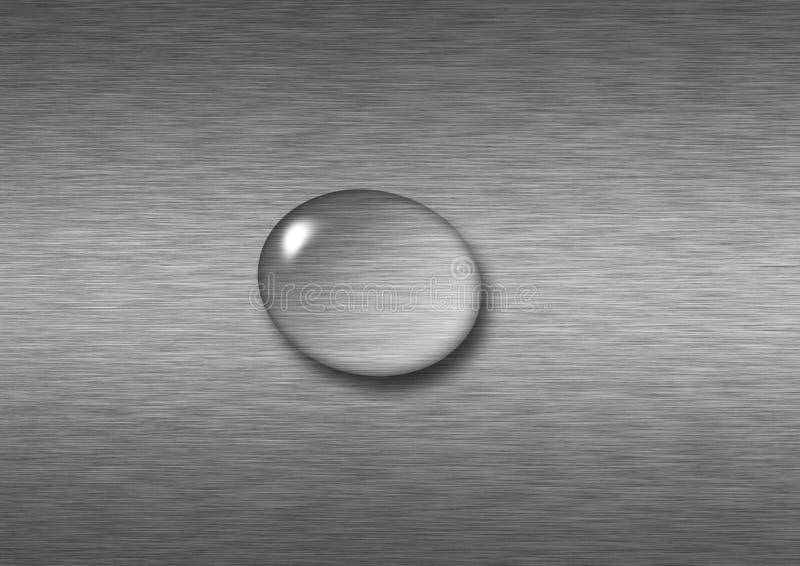 Aufgetragener Metalltropfenfänger stockfoto
