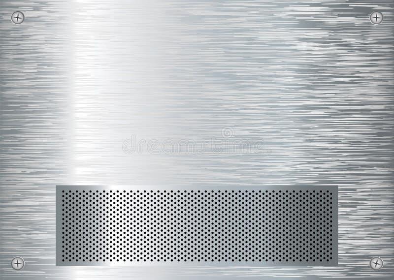 Aufgetragener silberner Grill stock abbildung