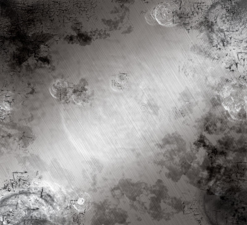 Aufgetragenes Aluminium beunruhigt vektor abbildung