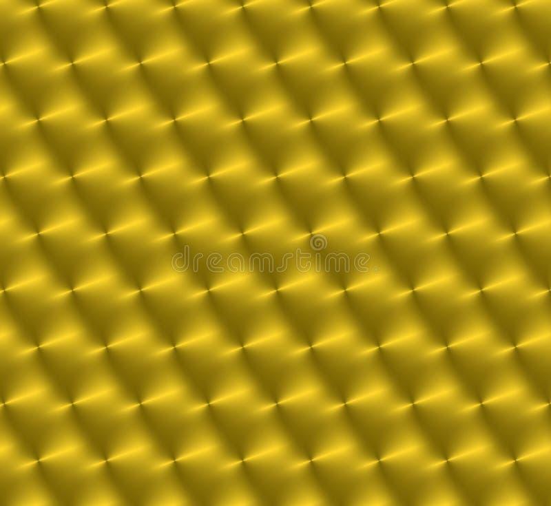 Aufgetragenes Kreisgold stock abbildung