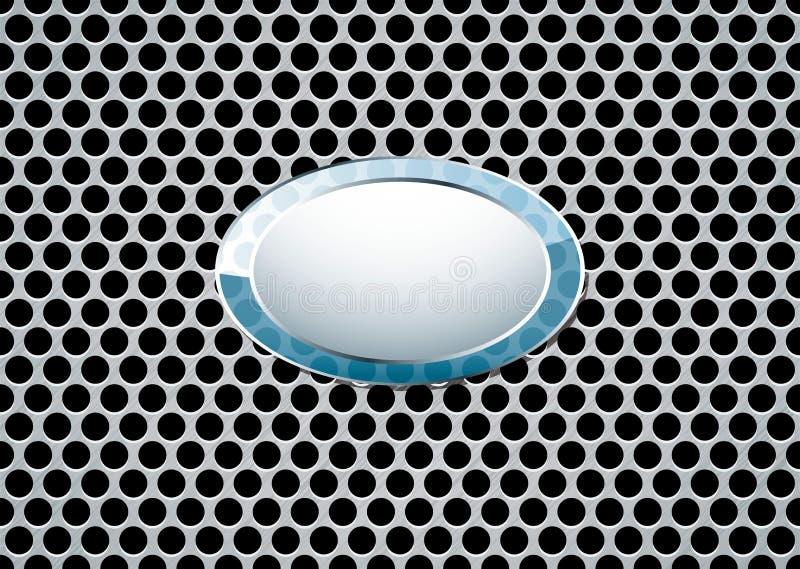 Aufgetragenes Metallrhombuszeichen stock abbildung