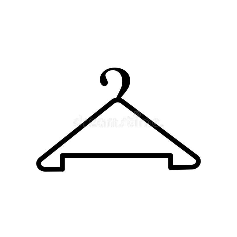 Aufhängerikonenvektor lokalisiert auf weißem Hintergrund, Aufhängerzeichen, Linie oder linearem Zeichen, Elemententwurf in der En lizenzfreie abbildung