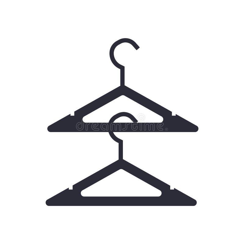 Aufhängerikonenvektorzeichen und -symbol lokalisiert auf weißem Hintergrund, Aufhängerlogokonzept stock abbildung
