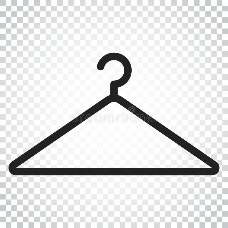 Aufhängervektorikone Garderobe hander flache Illustration Einfache BU lizenzfreie abbildung
