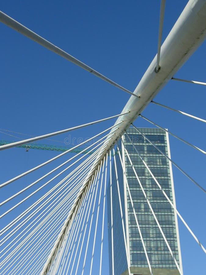 Aufhebungbrücke in Bilbao lizenzfreies stockbild