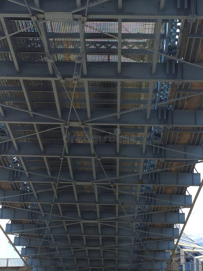 Aufhebungbrücke John-A Roeblings-Hängebrücke, Cincinati, Ohio, USA stockfotos