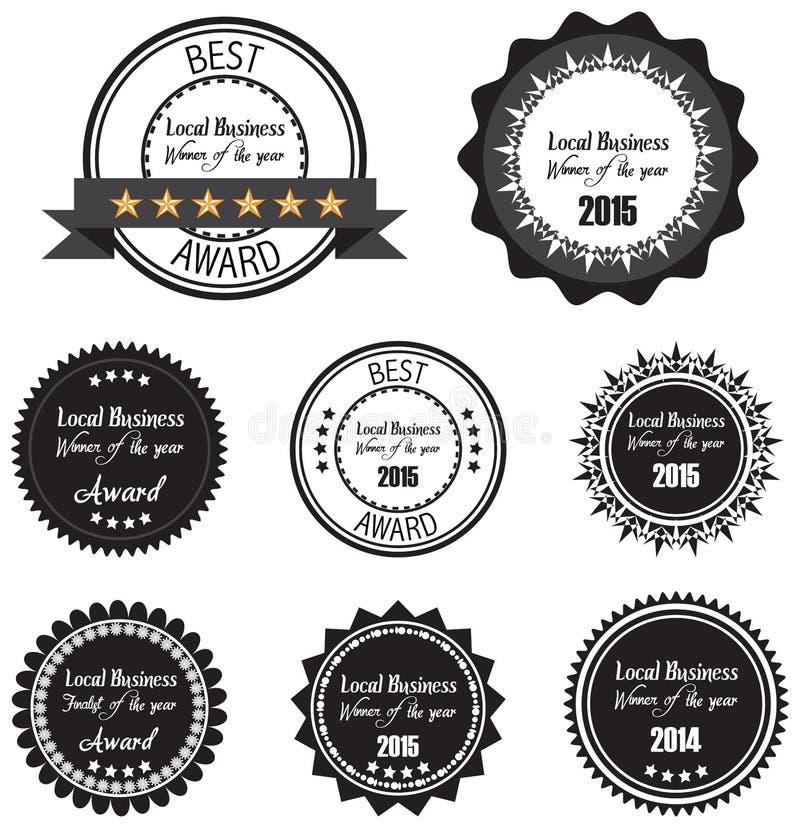Aufkleber des besten Siegers des Jahrpreises für lokales Geschäft vektor abbildung