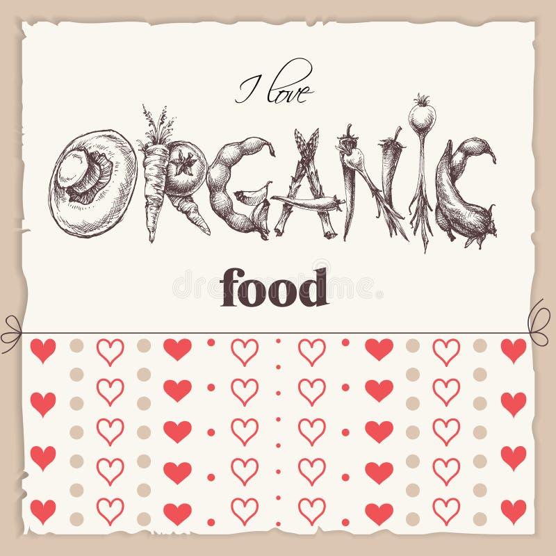 Aufkleber des biologischen Lebensmittels lizenzfreie abbildung