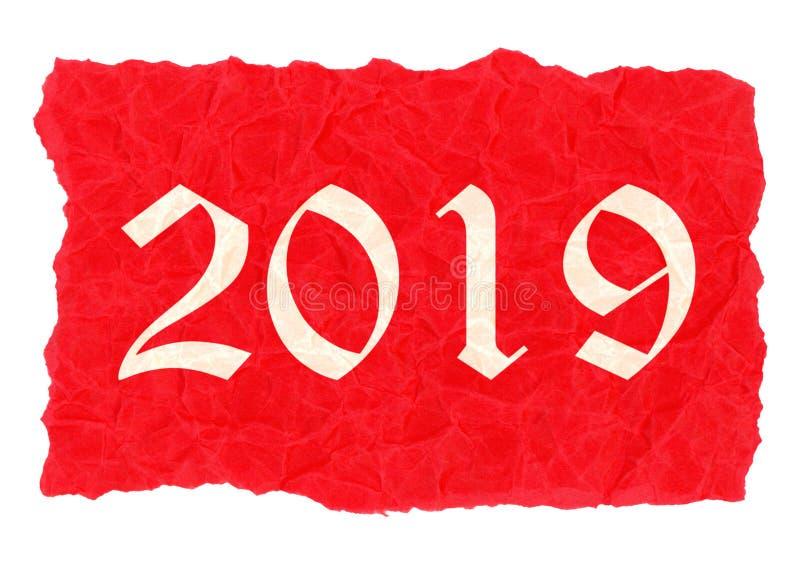 Aufkleber des Jahres 2019 stock abbildung